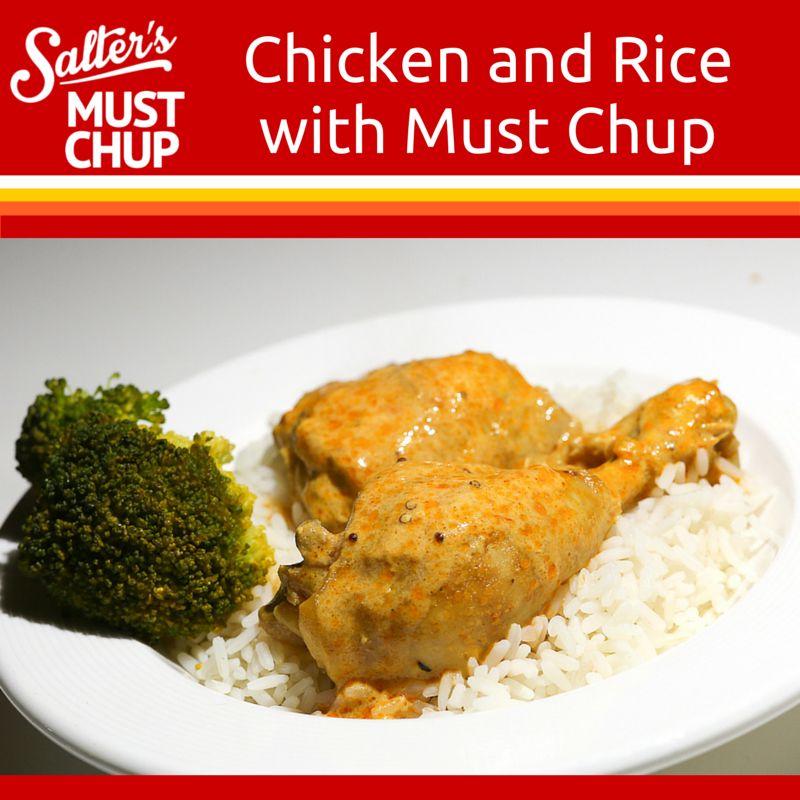 Chicken And Rice With Creamy Must Chup Sauce Must Chup