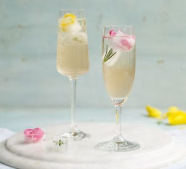 Elderflower and herb cooler